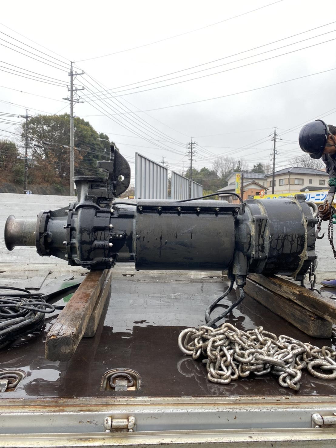 岡崎市某所 汚水ポンプ引揚げ撤去作業