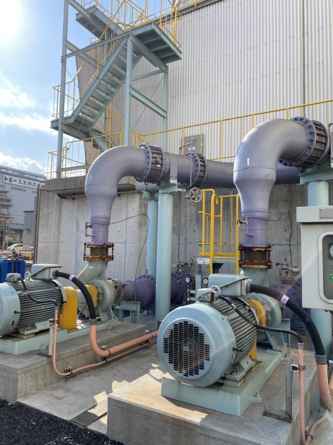 豊橋市某所 クーリングタワー冷却水ポンプ2台分解整備