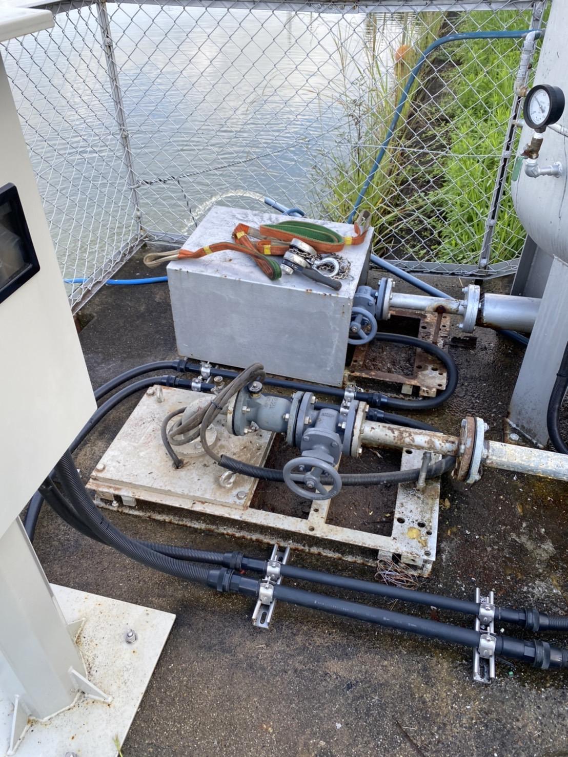 みよし市某所 農水用加圧給水設備ポンプ配管更新工事