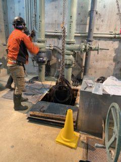 安城市 汚水ポンプ更新工事