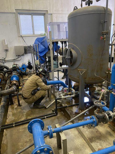 岡崎市某所 水道施設の加圧給水ユニットの更新工事