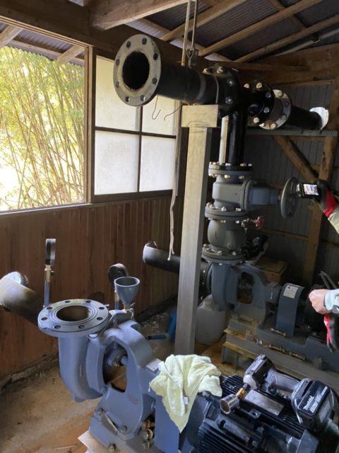 豊田市某所 取水施設の配管、呼水槽、グランドフートの設置工事