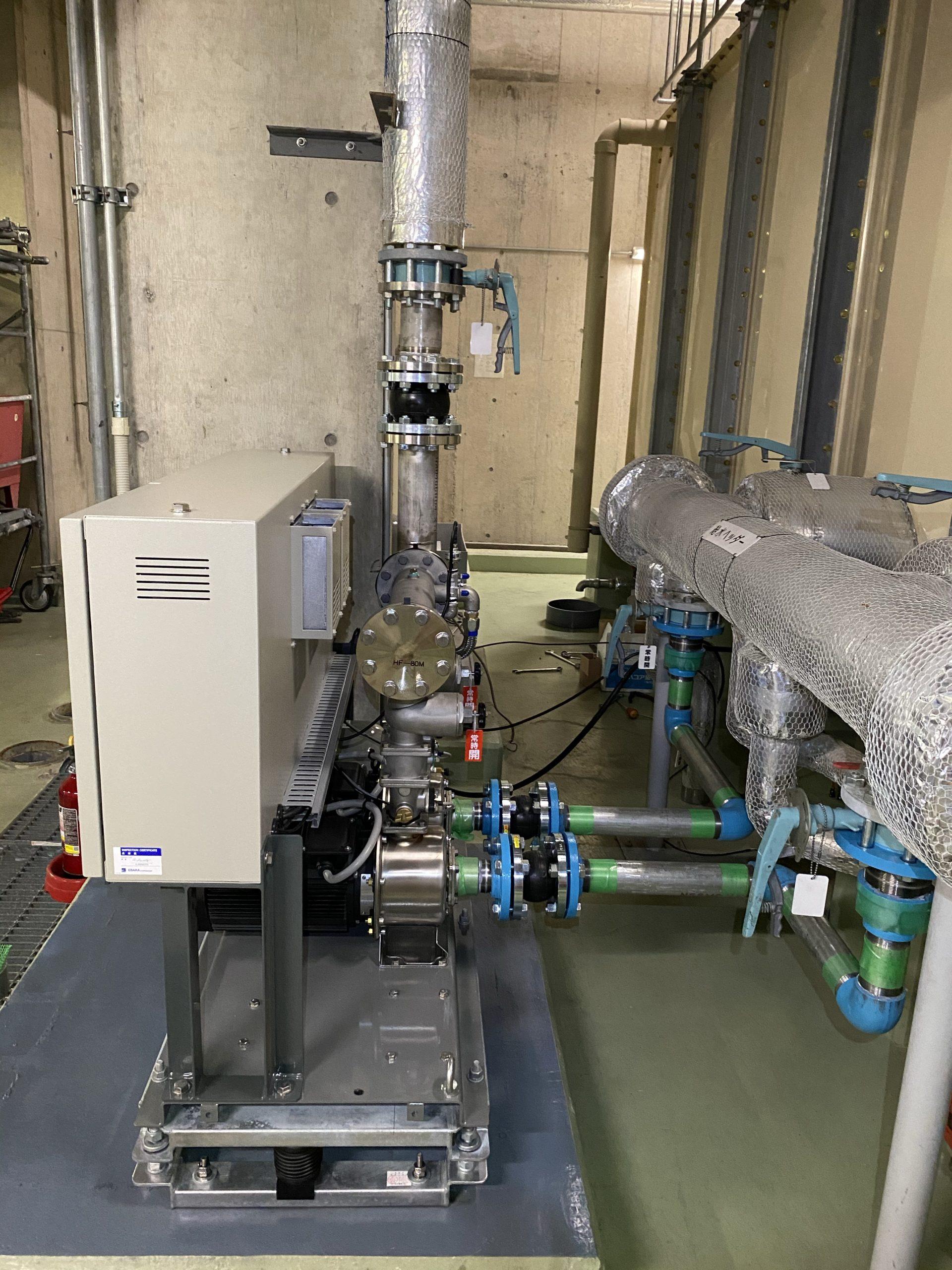 浜松某所 加圧給水ユニット2セット更新工事